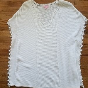 Lilly Pulitzer sweater in white